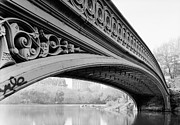 Bow Bridge Digital Art Prints - Central Park Bow Bridge Print by Digital Reproductions