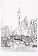 Sonny Perschbacher - Central Park bridge in...