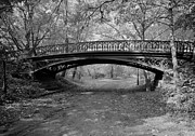 Bow Bridge Digital Art Prints - Central Park Bridge Number 27 Print by Digital Reproductions