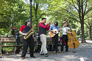 Buskers Photos - Central Park Buskers by Alex Segre