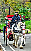 Central Park Digital Art Posters - Central Park Horse Poster by Alice Gipson