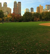 Softball Art - Central Park In Autumn by Dan Sproul