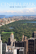 Central Park Skyline Prints - Central Park in New York Print by Ron Sumners