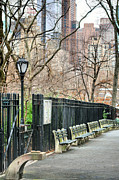 Park Benches Photos - Central Park by JC Findley