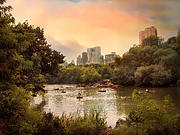 New York Digital Art - Central Park Lake by Jessica Jenney