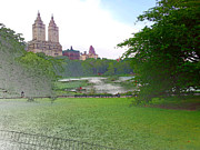 Central Park Digital Art Posters - Central Park Landscape Poster by Ricardo  Almeida