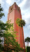 Florida Gators Posters - Century Tower Poster by Joan Carroll