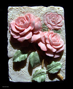 Floral Ceramics Metal Prints - Ceramic Roses Metal Print by Suhas Tavkar