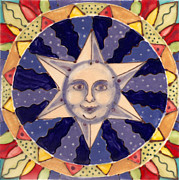 Whimsical Ceramics Posters - Ceramic Star Poster by Anna Skaradzinska