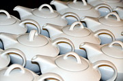 Tea Kettles Posters - Ceramic teapots for brewing tea Poster by Elzbieta Fazel