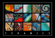Red Art Ceramics Posters - Ceramics Poster by Urilla Art