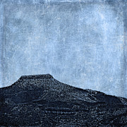 Woodcut Metal Prints - Cerro Pedernal Metal Print by Carol Leigh