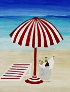 Beach Towel Digital Art Posters - Cerveza por favor Poster by Barbara St Jean