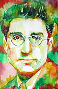 Cesare Art - CESARE PAVESE / watercolor portrait by Fabrizio Cassetta
