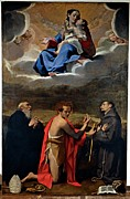 Gestures Framed Prints - Cesi Bartolomeo, Madonna And Child Framed Print by Everett