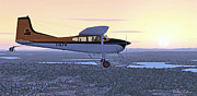 Aviator Mixed Media Posters - Cessna 185F   Poster by Walter Colvin