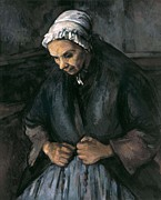 Rosary Posters - Cezanne, Paul 1839-1906. An Old Woman Poster by Everett
