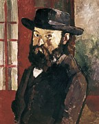Self-portrait Photo Prints - Cezanne, Paul 1839-1906. Self-portrait Print by Everett