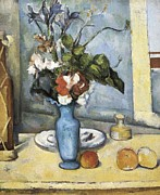 Interior Still Life Photo Metal Prints - Cezanne, Paul 1839-1906. The Blue Vase Metal Print by Everett