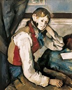 Youthful Posters - Cezanne, Paul 1839-1906. The Boy Poster by Everett