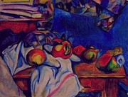 Table Cloth Pastels - Cezanne reproduction by Ulrike Proctor