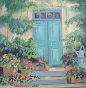 France Doors Painting Prints - Cezannes Art Studio Print by Linda  Wissler