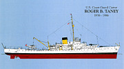Uscg Drawings - CGC Roger B. Taney by Jerry McElroy