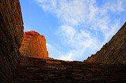 Native Architecture Posters - Chaco Canyon Silence Is Golden Poster by Bob Christopher