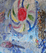 Mosaic Photos - Chagall Mosaic by David Bearden