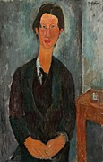 Stylized Paintings - Chaim Soutine by Amedeo Modigliani