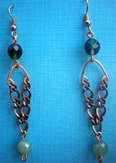 Beth Sebring - Chain Beaded Eaarrings
