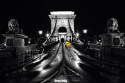 City Streets Photo Originals - Chain bridge in Budapest by Tomasz Sergej