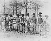 Negroes Photo Framed Prints - CHAIN GANG c. 1885 Framed Print by Daniel Hagerman