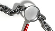 Chain Missing Link Magnifying Glass Print by Allan Swart