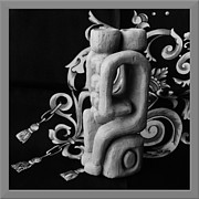 Tiny Sculpture Framed Prints - Chained Together Framed Print by Barbara St Jean