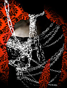 Spooky  Digital Art Originals - Chains by Tomasz Wieja