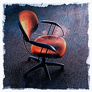 Empty Chairs Digital Art Posters - Chair 3 Poster by Perry Webster