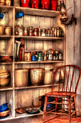 Mason Jars Photos - Chair - Chair in the Corner by Mike Savad
