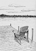 Chair On The Dock Print by Al Intindola