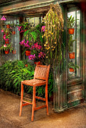 Flower Pot Photos - Chair - The Chair by Mike Savad