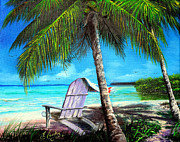 Earl Butch Curtis - Chair Under A Palm Tree