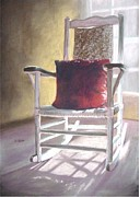 Donna Shortt Painting Posters - Chair Values Poster by Donna Shortt