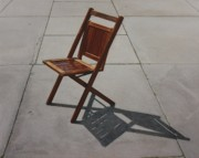 Sidewalk Paintings - Chair Walk by Nancy Teague