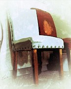 Rivets Painting Framed Prints - Chairs Framed Print by Robert Smith