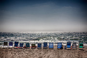 Beach Chairs Prints - Chairs watching the sunset Print by Peter Tellone
