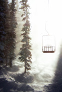 Snow Trees Posters - Chairway to Heaven Poster by Kevin Munro