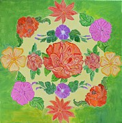 Spring Time Paintings - Chaitra Mandala by Sonali Gangane