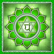 Healing Digital Art Metal Prints - Chakra Anahata Series 2011 Metal Print by Dirk Czarnota