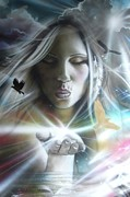 Fantasy Art Paintings - Chakra by Christian Chapman Art