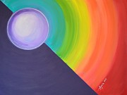 Chakra Paintings - Chakra Color Meditation by Agata Lindquist